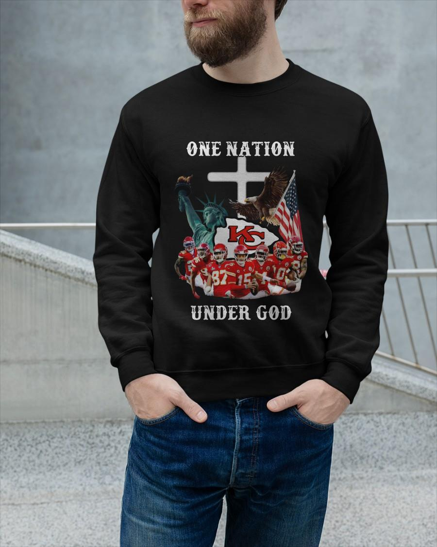 Chiefs Eagle American Flag One Nation Under God Sweater