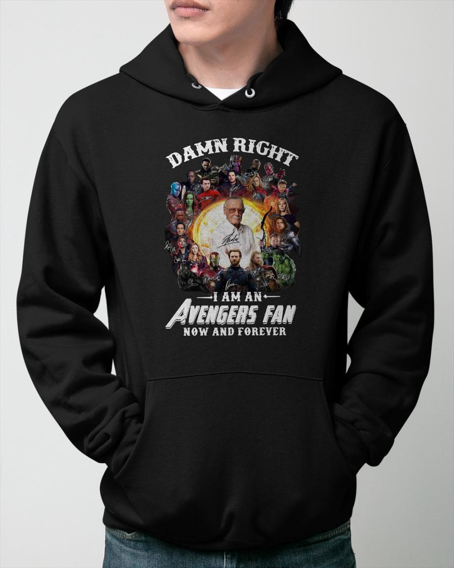 Damn Right I Am An Avengers Fan Now And Forever Signatures Hoodie