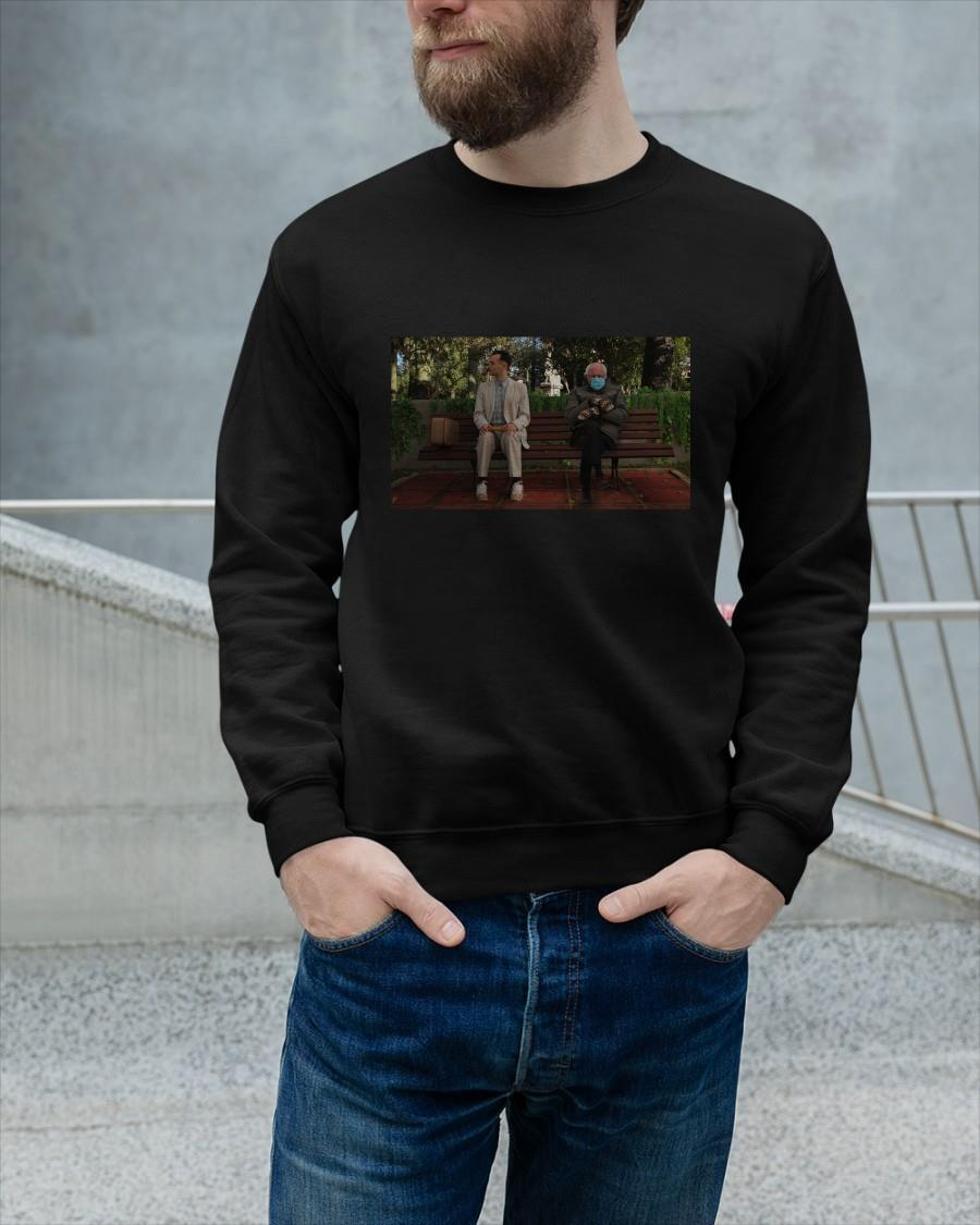 Mens Bernie Sanders With Gump Meme Sweater