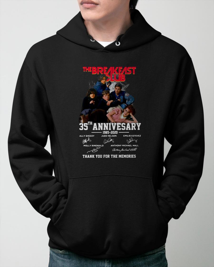 Signatures The Breakfast Club 35th Anniversary 1985 2020 Hoodie