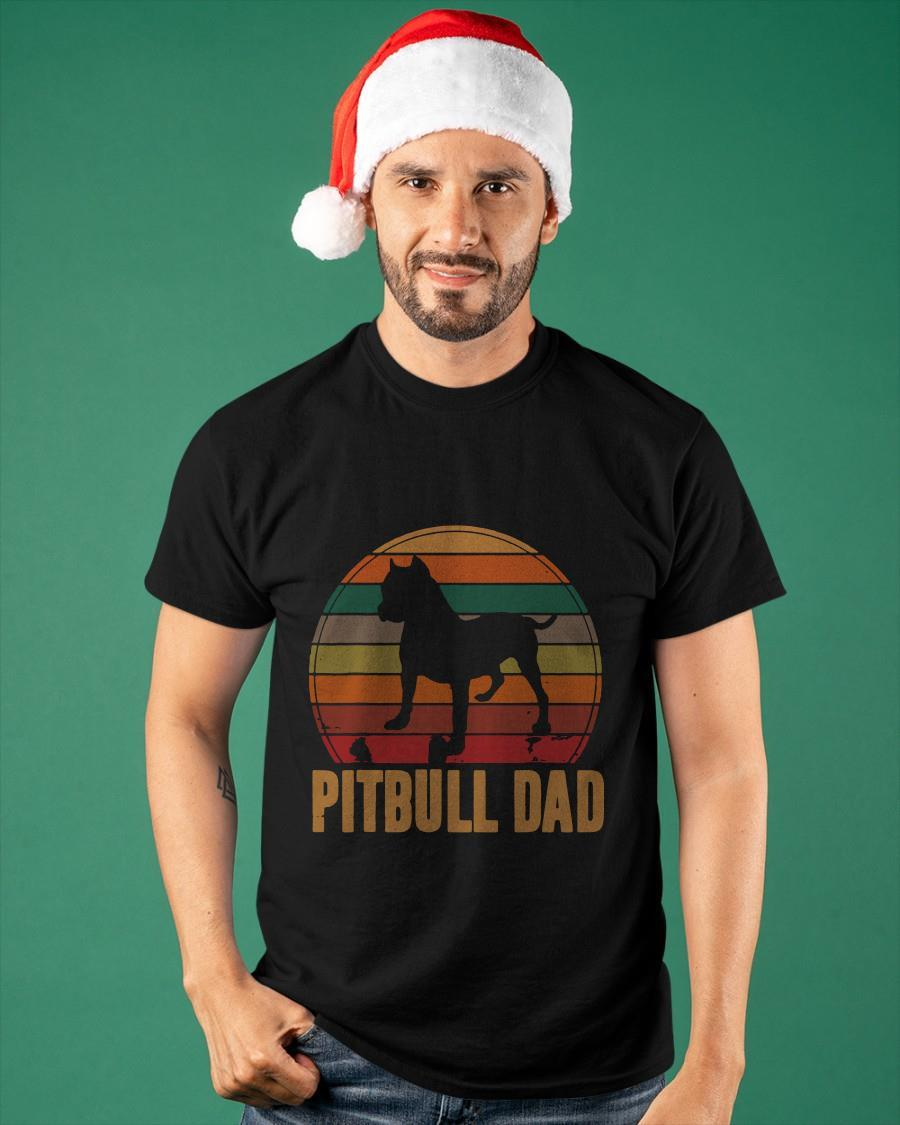 Vintage 2021 Dog Pitbull Dad Shirt