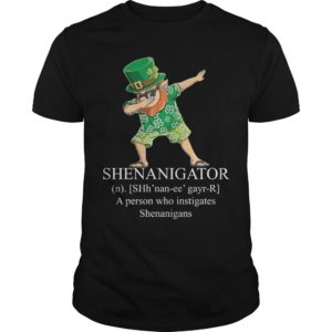 Leprechaun Hawaiian Dabbing Shenanigator A Person Who Instigates Shenanigans Shirt