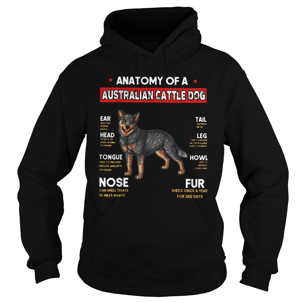 Natomy Of Australian Cattle Hoodie