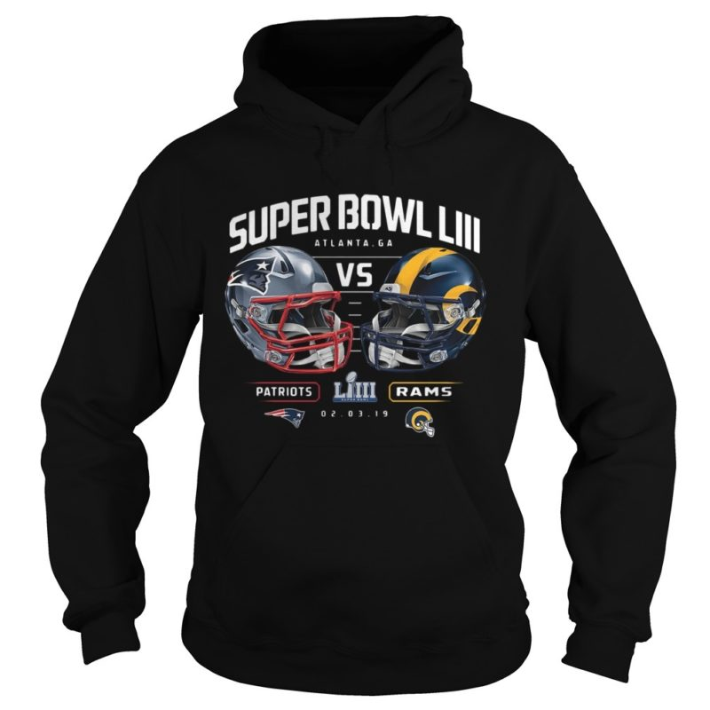Patriots Vs Rams Super Bowl LIII Dueling Chair Route Hoodie