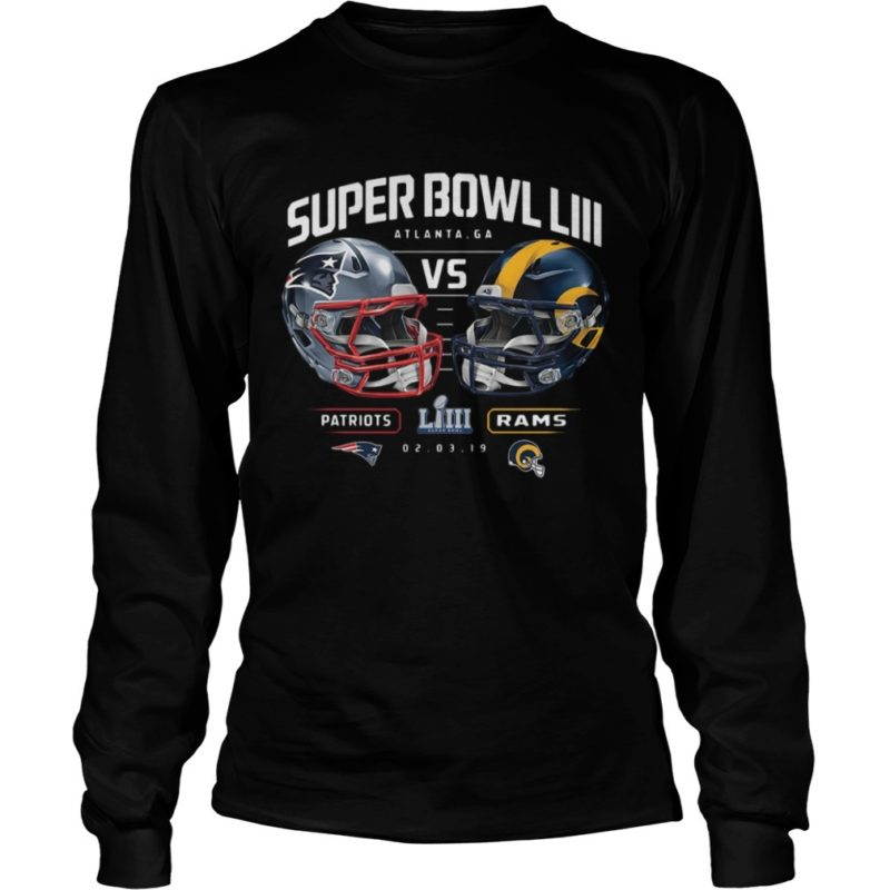 Patriots Vs Rams Super Bowl LIII Dueling Chair Route Long Sleeve Tee