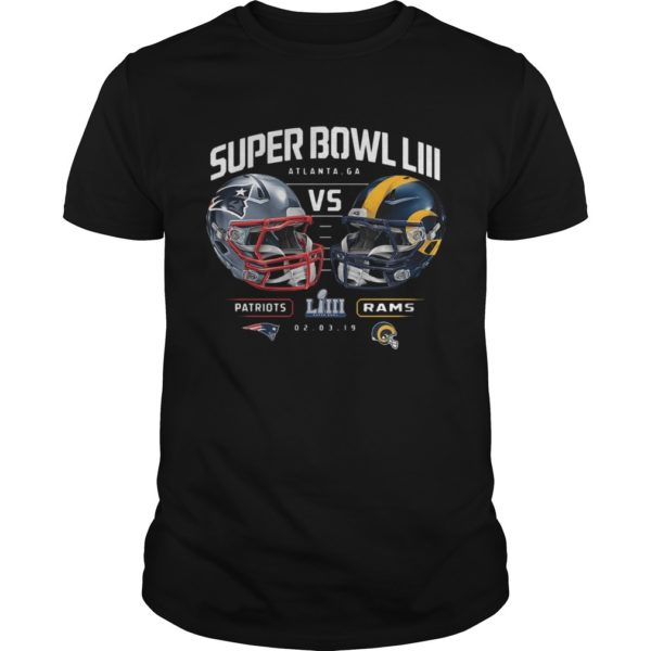 Patriots Vs Rams Super Bowl LIII Dueling Chair Route Shirt