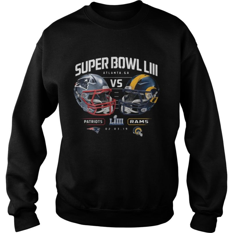 Patriots Vs Rams Super Bowl LIII Dueling Chair Route Sweater
