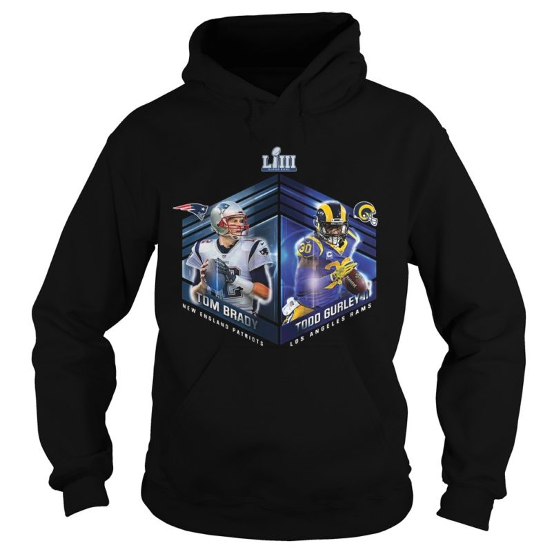 Patriots Vs Rams Super Bowl LIII Dueling Player Hoodie
