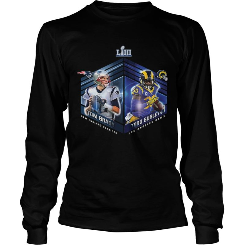 Patriots Vs Rams Super Bowl LIII Dueling Player Long Sleeve Tee