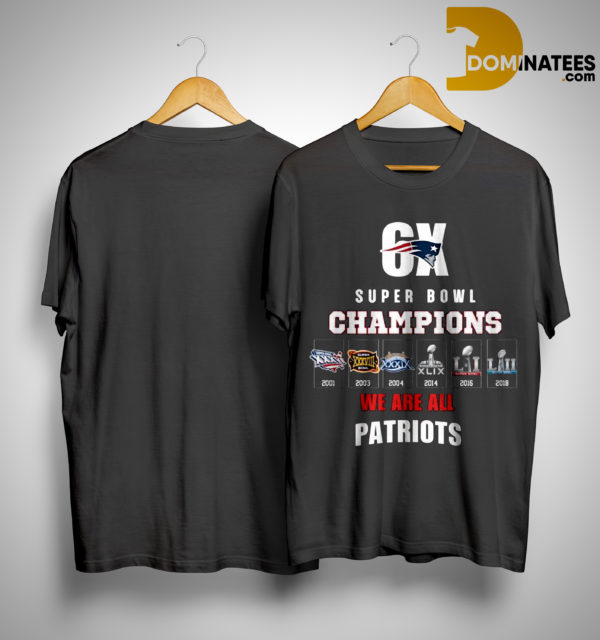 6x Super Bowl Champions Patriots T Shirt