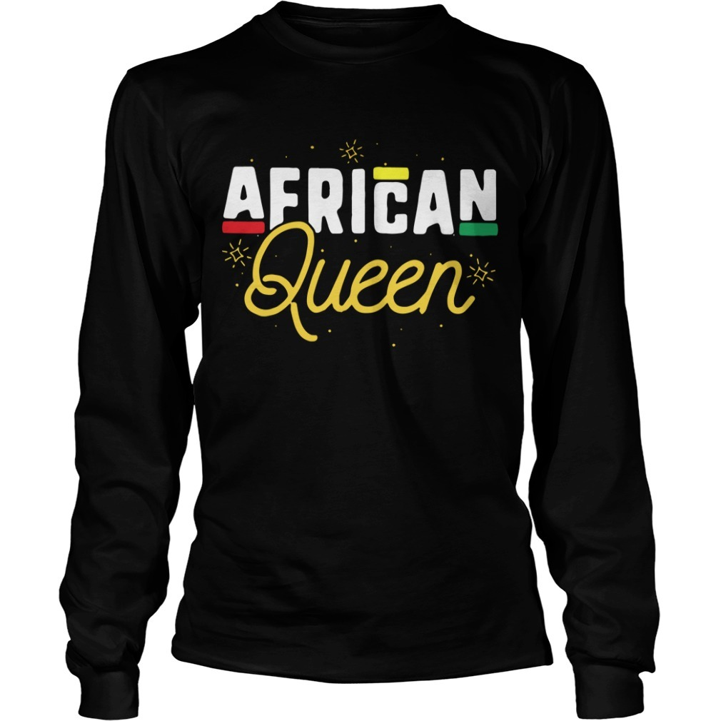 African Queen Black History Month Long Sleeve Tee