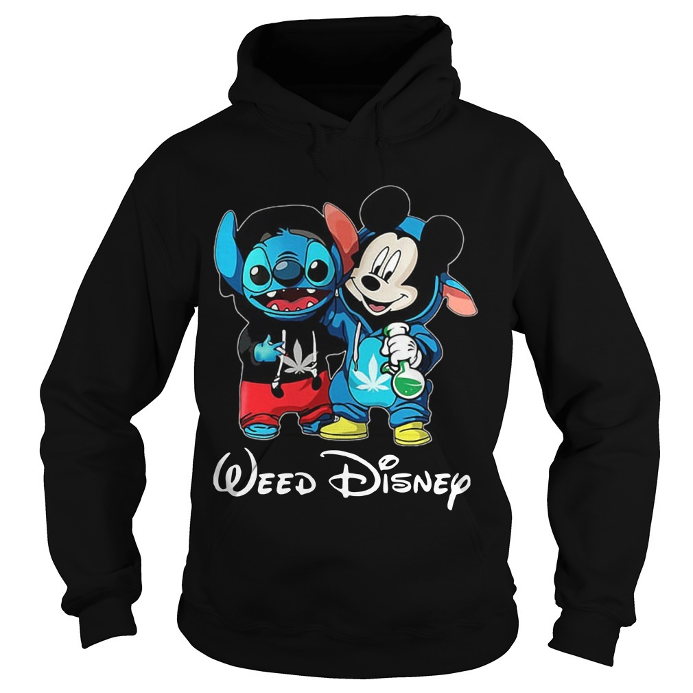 Baby Stitch And Mickey Mouse Weed Disney Hoodie