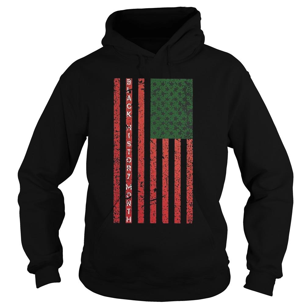 Black History Month Flag Hoodie