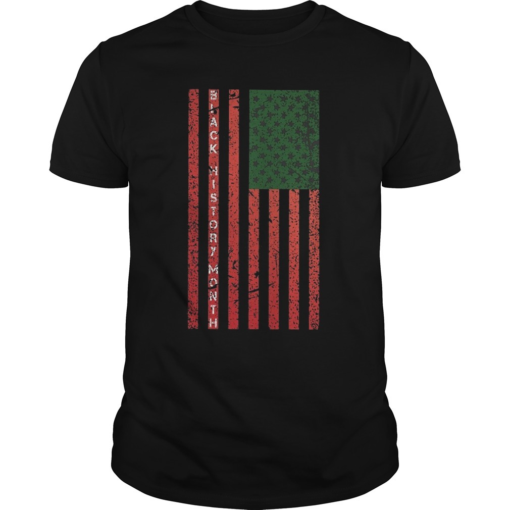Black History Month Flag Shirt