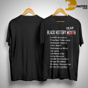 Black History Year African American Shirt