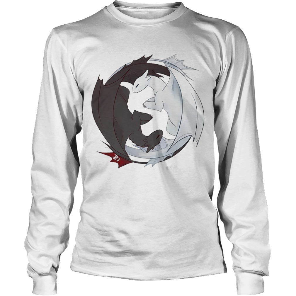 How to Train Your Dragon 3 Toothless And Light Fury Long Sleeve Tee
