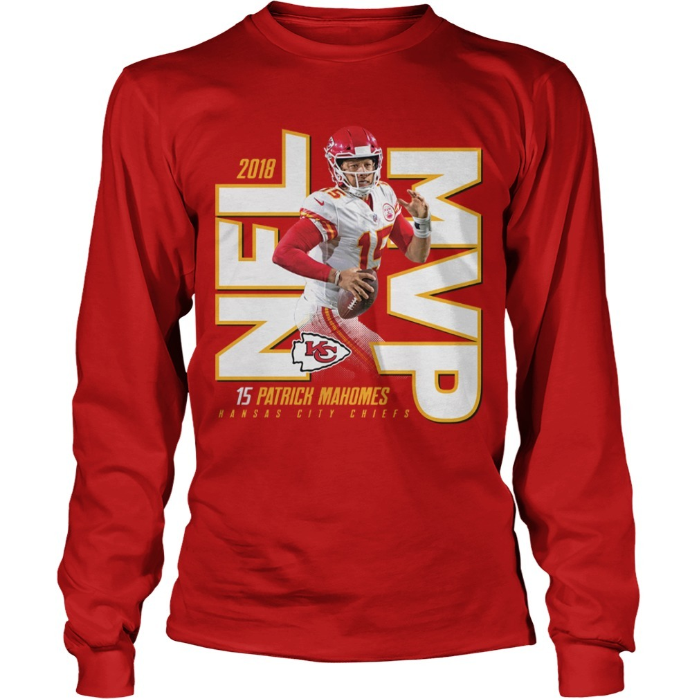 Kansas City Chiefs Patrick Mahomes 2018 NFL MVP Long Sleeve Tee