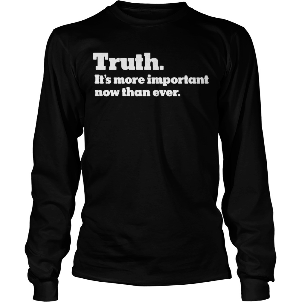 Kyrie Irving Truth It's More Important Than Ever long Sleeve Tee