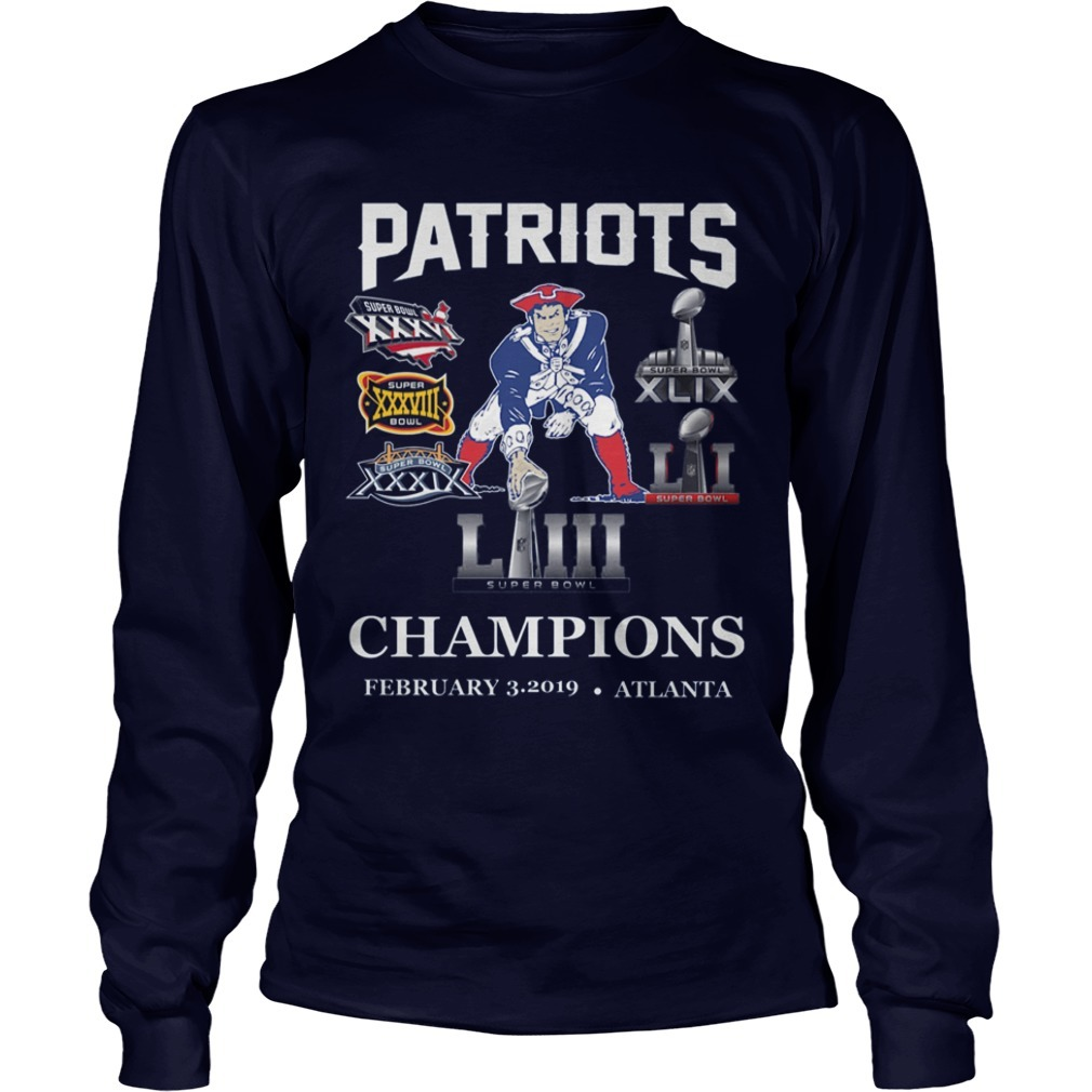 Pat Patriot Champions 2019 Long Sleeve Tee
