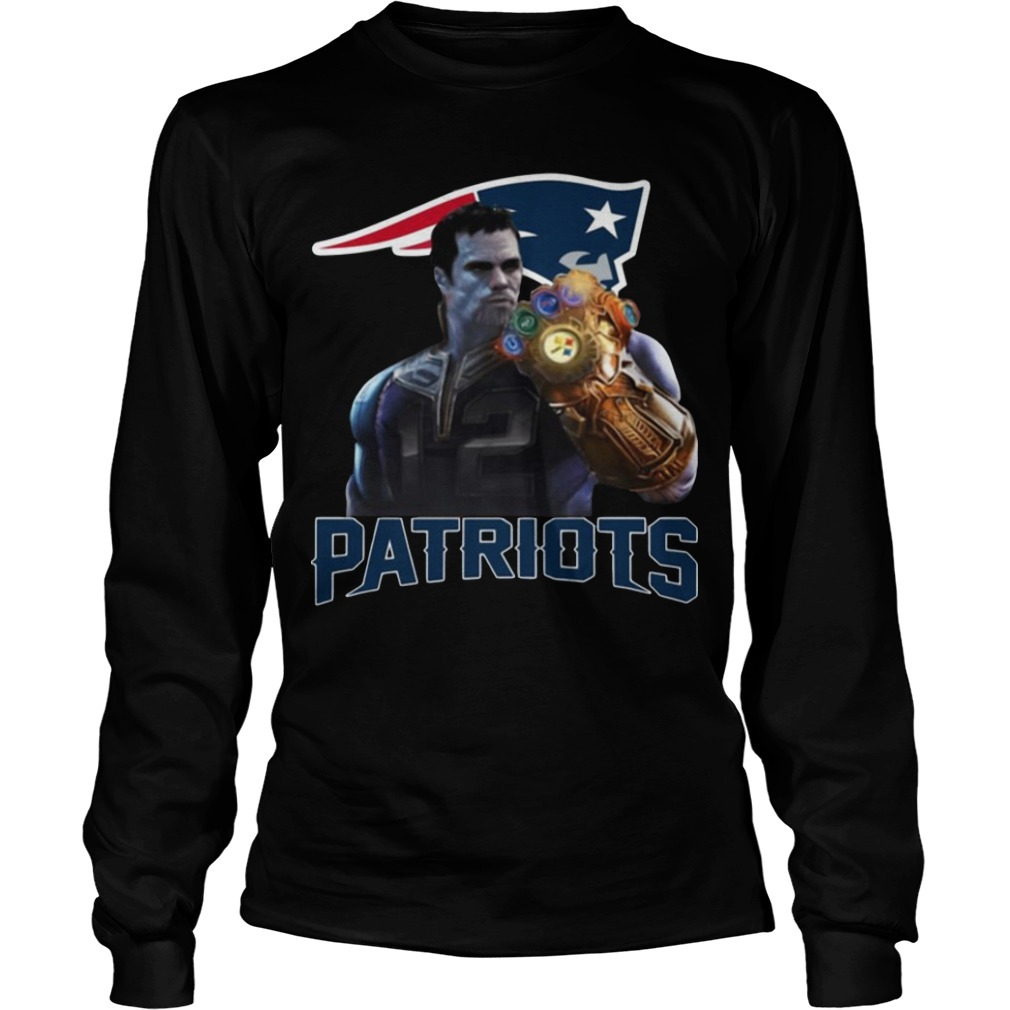 Patriots tom brady infinity gauntlet Long Sleeve tee