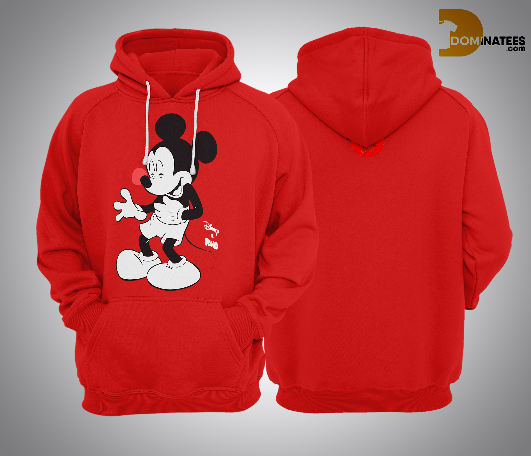 RED NOSE DAY Mickey Mouse Hoodie 2019