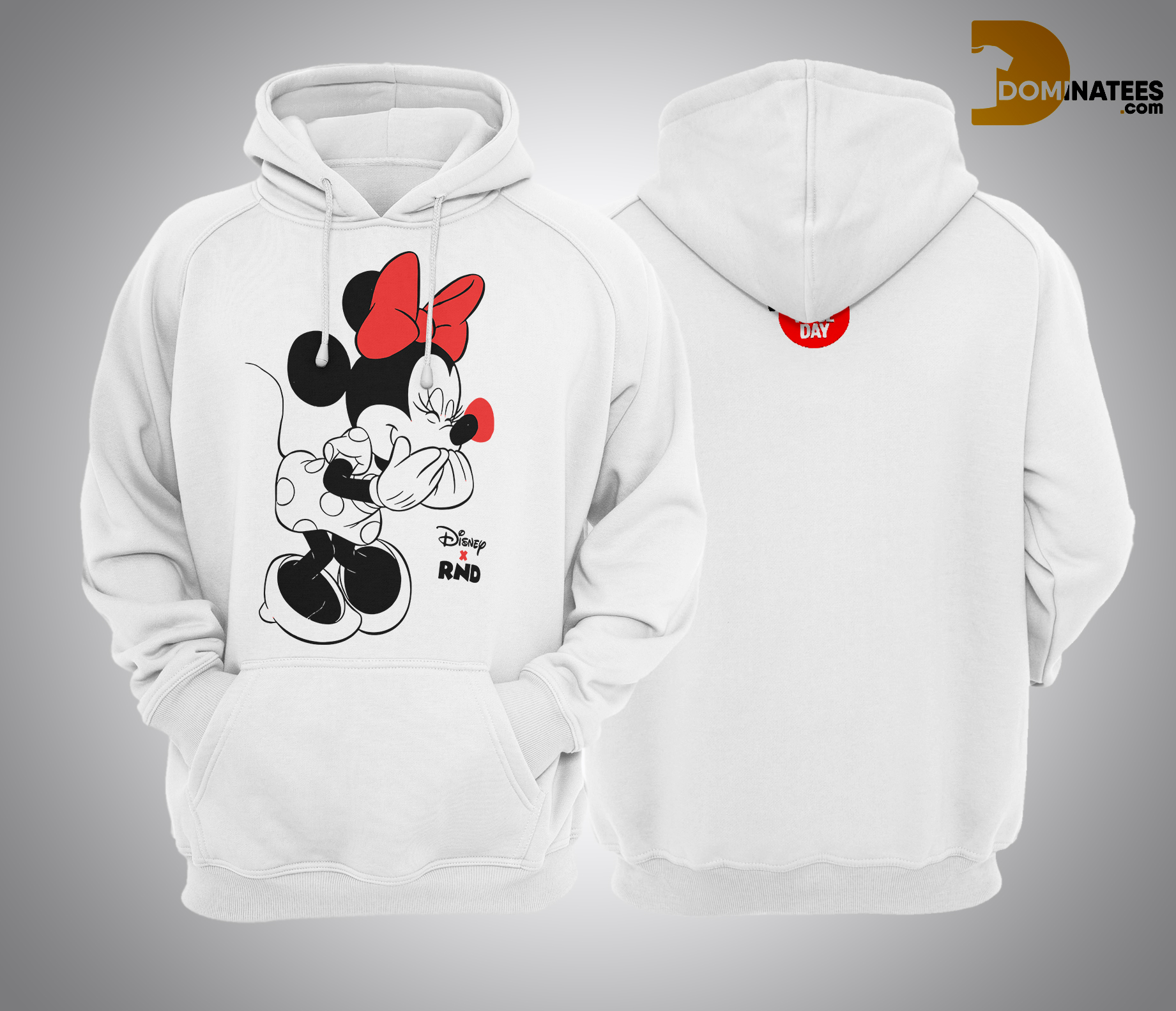 RED NOSE DAY Minnie Mouse Hoodie