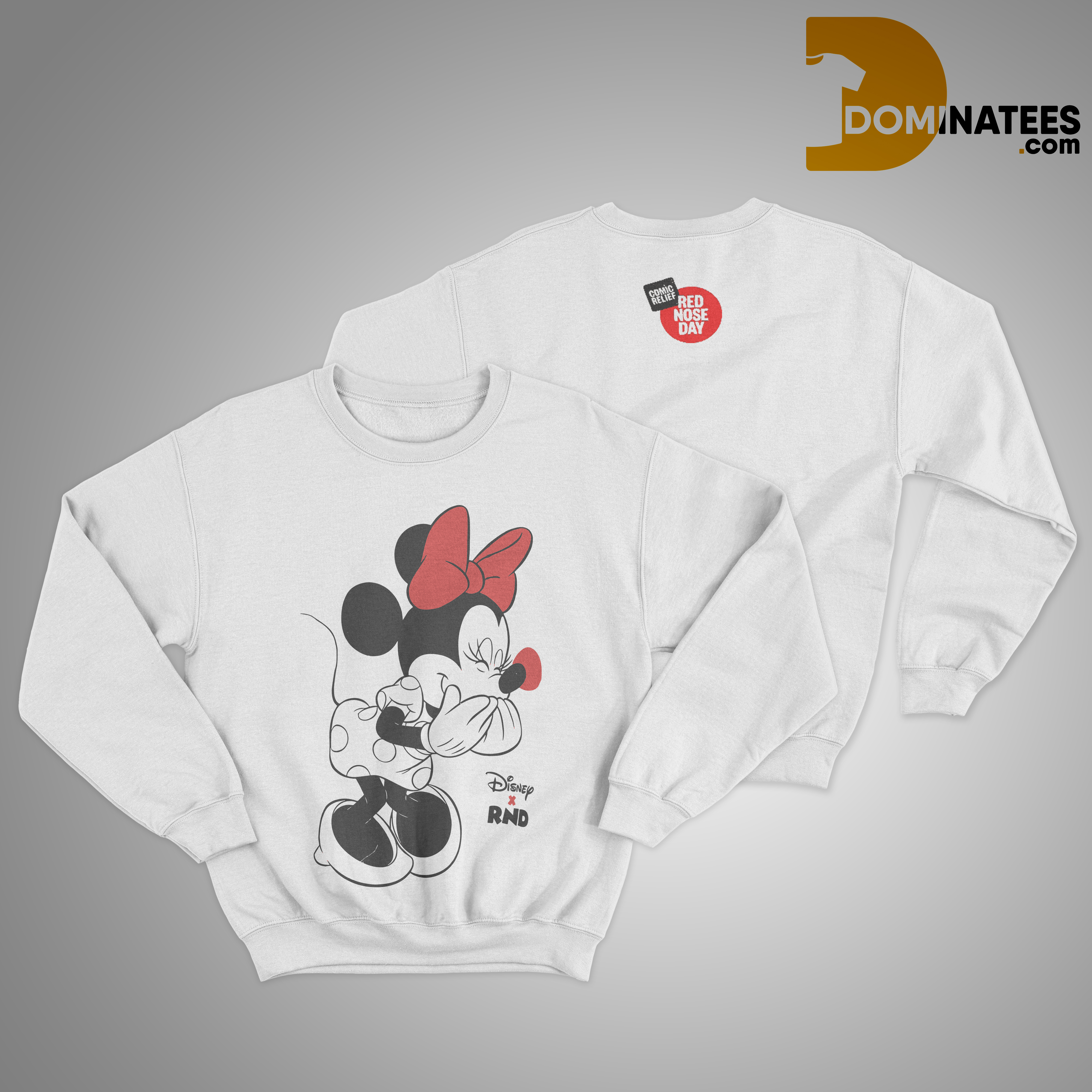 RED NOSE DAY Minnie Mouse Sweater