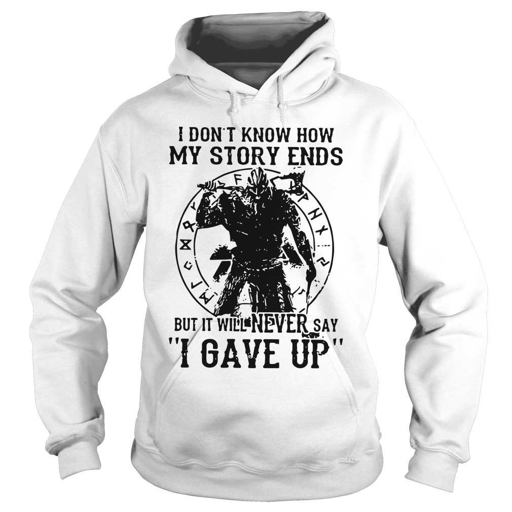 Viking Warrior I Don't Know How My Story Ends Kid Hoodie