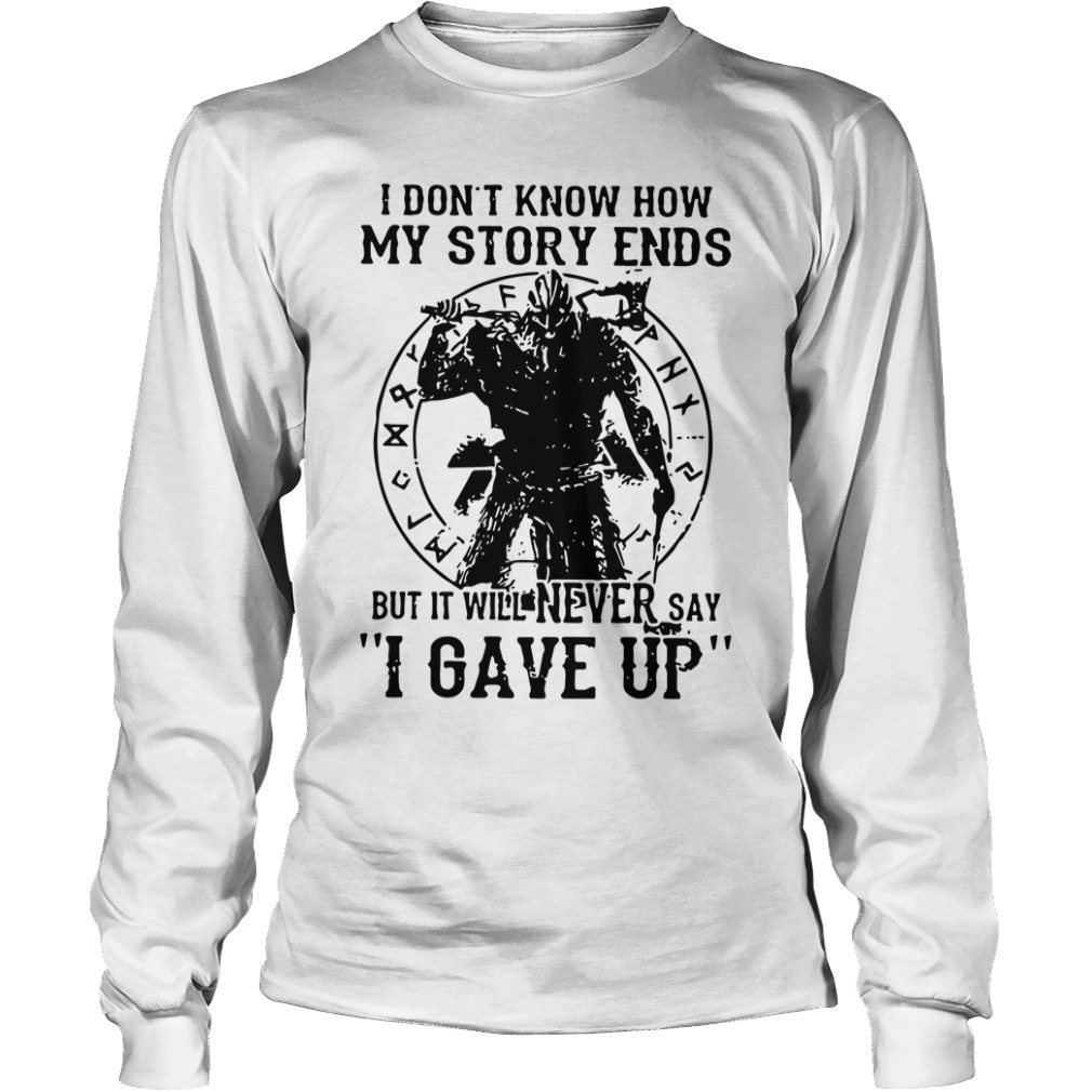 Viking Warrior I Don't Know How My Story Ends Kid Longsleeve Tee