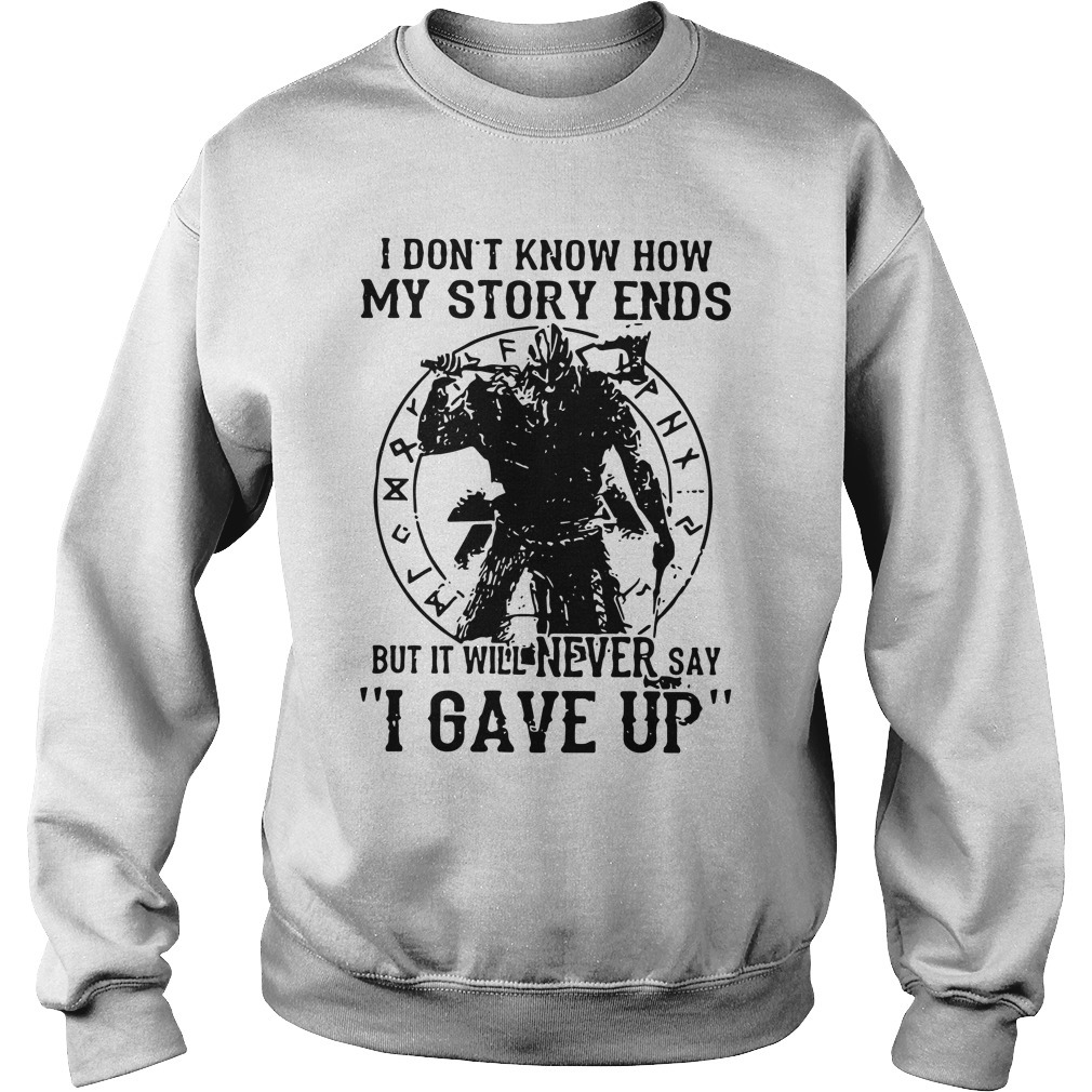 Viking Warrior I Don't Know How My Story Ends Kid Sweater