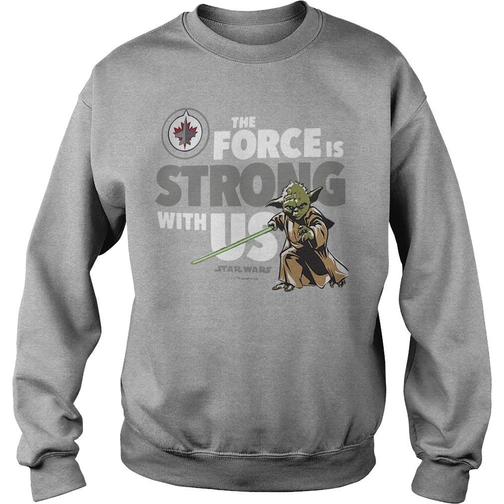 Winnipeg Jets The force is strong with us star wars Sweater