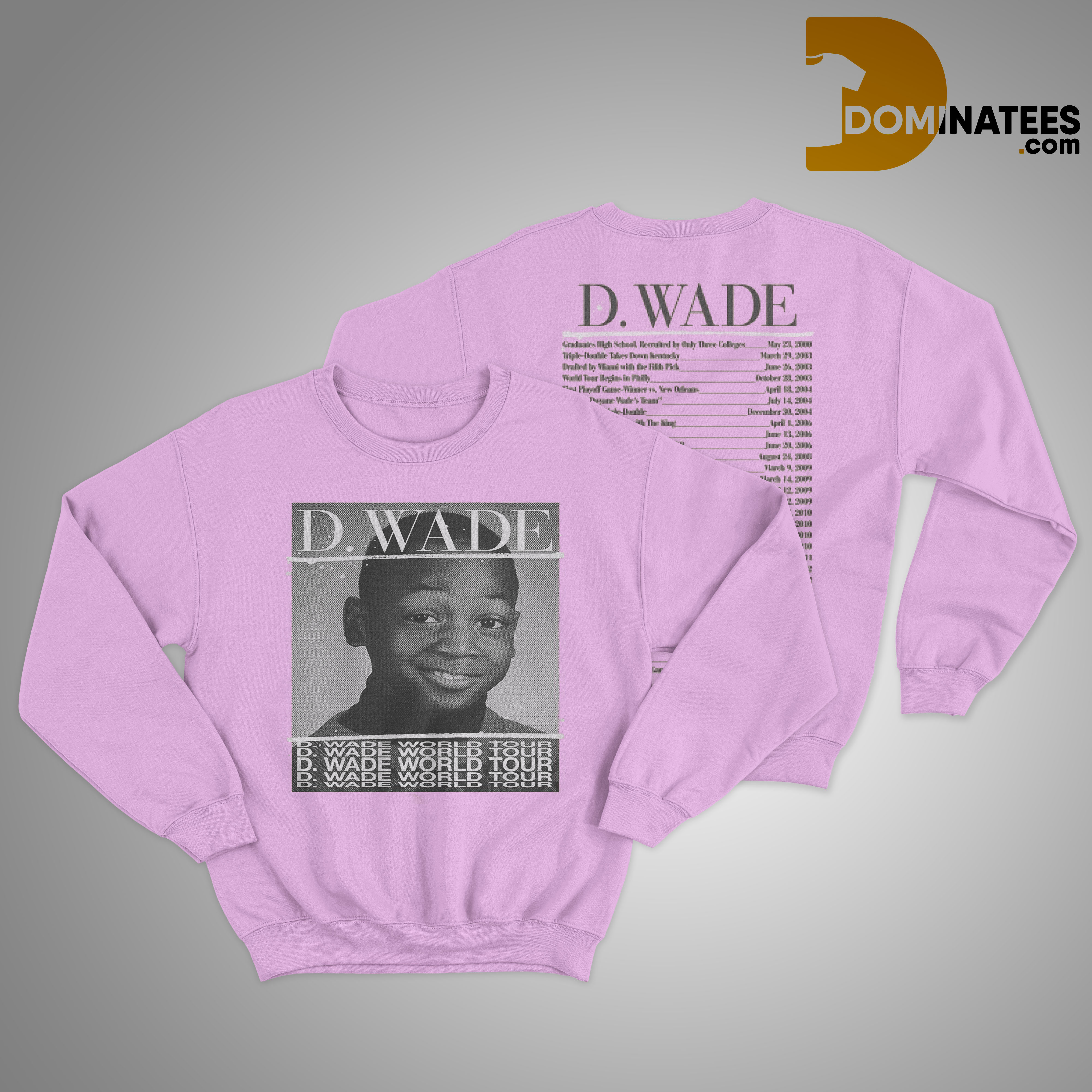 d wade world tour Sweater