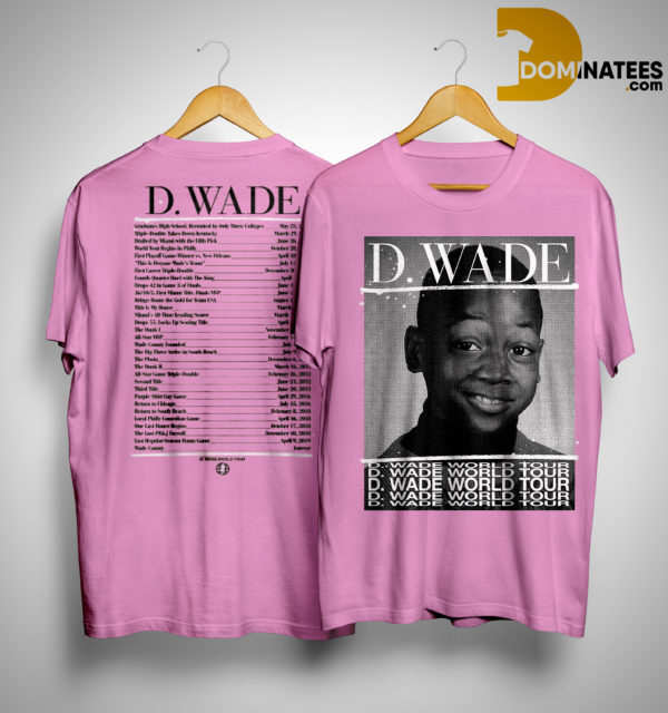 d wade world tour shirt