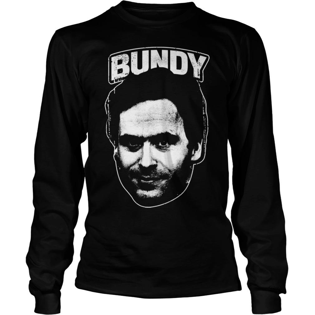 serial killer Ted Bundy Face Long Sleeve Tee