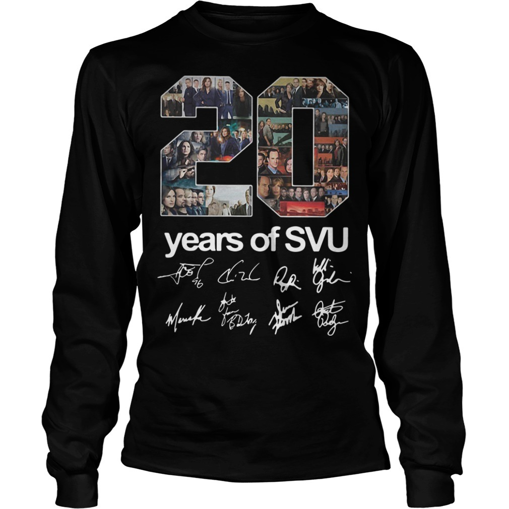 20 Years Of SVU Law And Order All Signatures Long Sleeve Tee