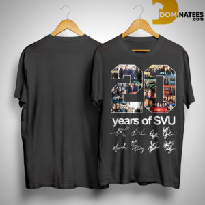 20 Years Of SVU Law And Order All Signatures Shirt