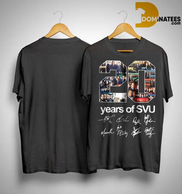 20 Years Of SVU Signature Shirt