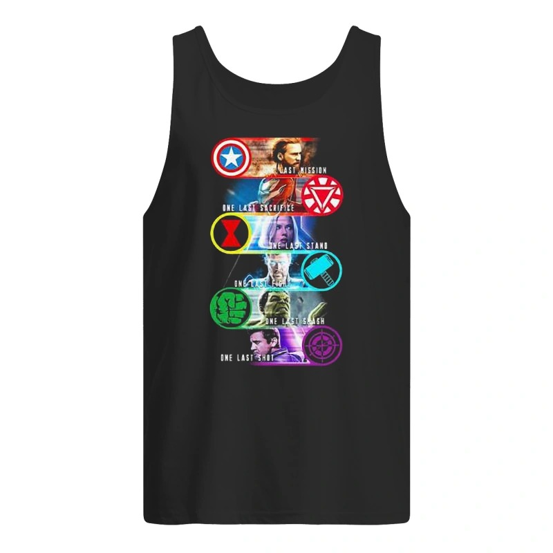 Avenger Endgame one last mission sacrifice stand fight smash shot Tank Top