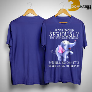 Baby Elephant People Should Seriously Stop Expecting Normal From Me Shirt