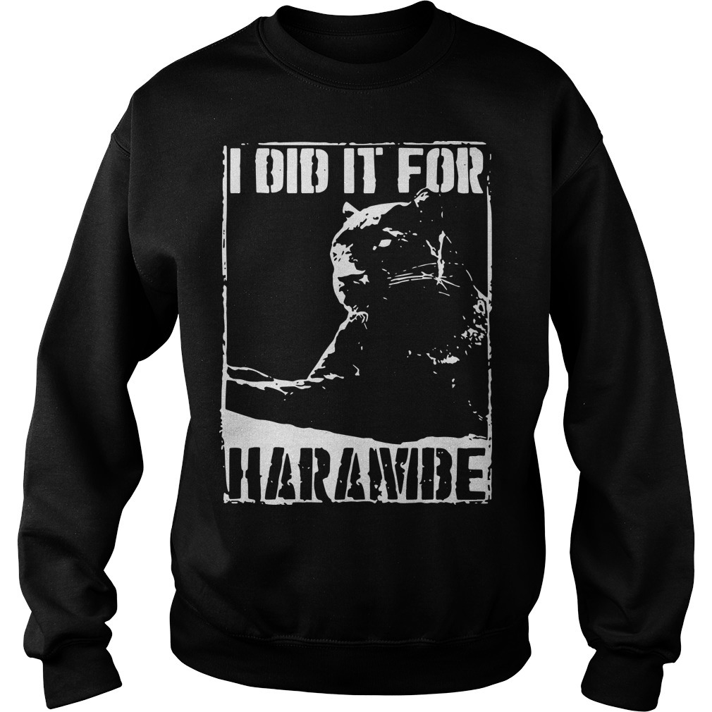 Black Panther I Did It For Harambe Long Sweater