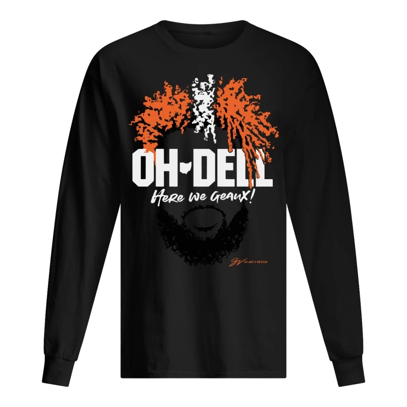 Cleveland Brown Oh Dell Here We Geaux Long Sleeve Tee
