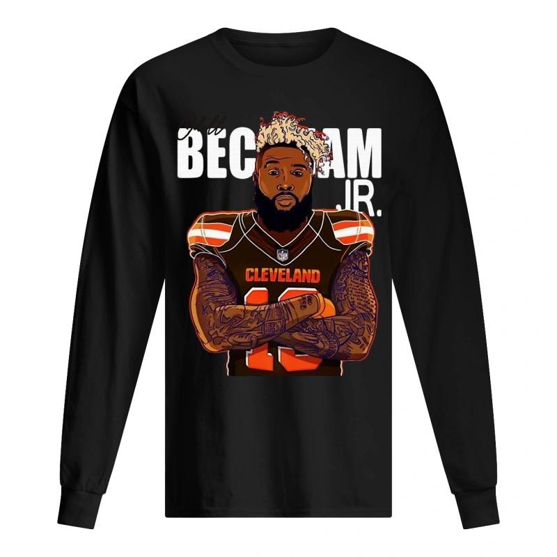 Cleveland Browns Odell Beckham JR long Sleeve Tee