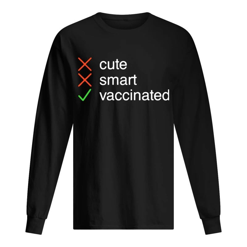 Cute Smart Vaccinated long Sleeve Tee
