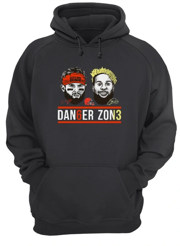 Danger Zone 6 Baker Mayfield 13 Cleveland Browns Signature Hoodie