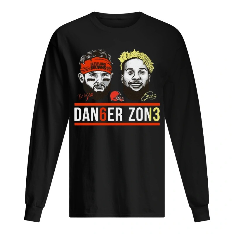 Danger Zone 6 Baker Mayfield 13 Cleveland Browns Signature Long Sleeve Tee