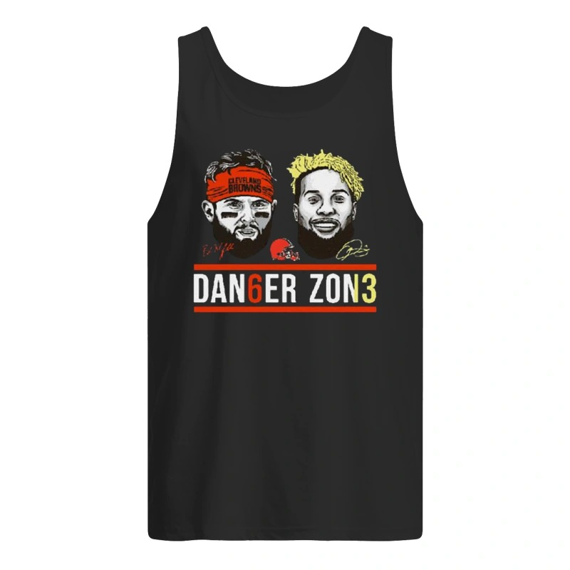Danger Zone 6 Baker Mayfield 13 Cleveland Browns Signature Tank Top