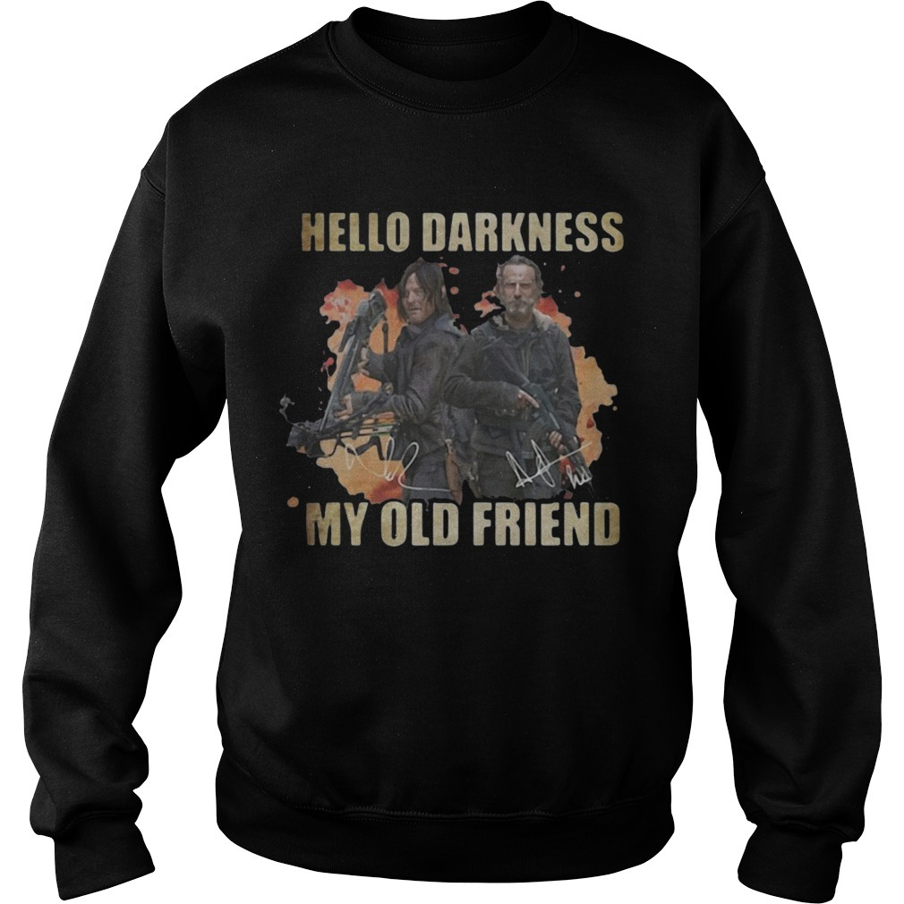 Daryl Dixon Rick Grimes Hello Darkness My Old Friend Sweater
