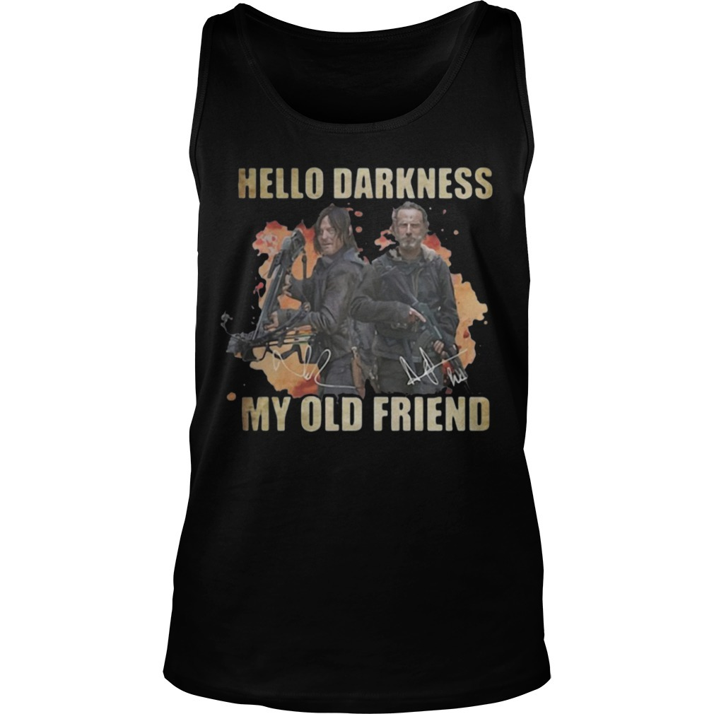Daryl Dixon Rick Grimes Hello Darkness My Old Friend Tank Top