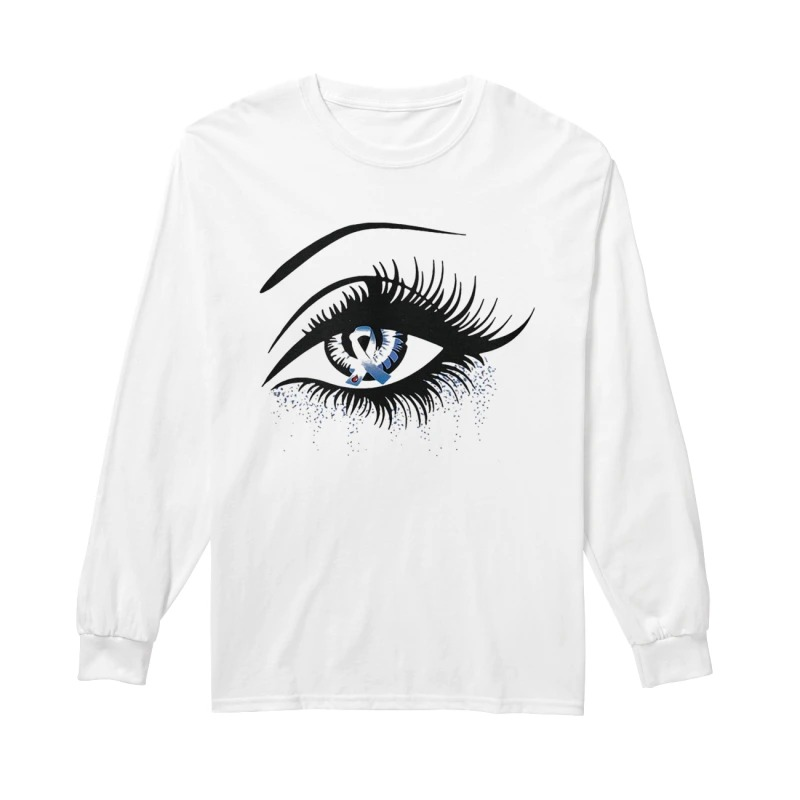 Diabetes And Cancer Awareness In The Eye Long Sleeve Tee