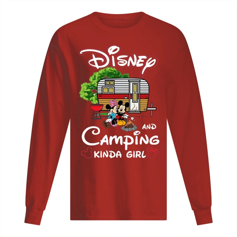 Disney And Camping Kinda Girl Long Sleeve Tee